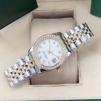 Best-sellere classico da 31 mm orologio automatico orologio in acciaio inox cornice piccolo diamante con zaffiro impermeabile orologio da donna impermeabile