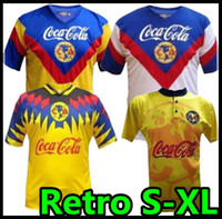 1993 1994 Liga MX Club América Retro Soccer Jerseys Laranja 93 94 O.Peralta C.Dominguez Matheus México Futebol Camisa