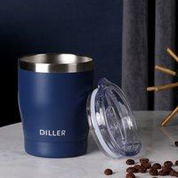 Diller Thermos Coffee кружка двойная стена из нержавеющей стали тумблер вакуумная колба бутылка термо чай кружка путешествия термос кружка термокуп lj201218