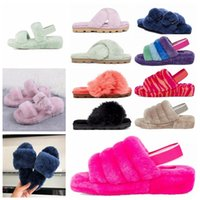 2021 ugg uggs ugglis wgg womens women boot boots shoes Oh Yeah Designer Womens Moda Casual Inverno Slipper Fuzz Chinelos Mulheres Fluffy Faux Furry Slides K0qd #
