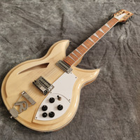 12 corde personalizzate 381-12 V69 Maple Glo Glo 1989 Natural Semi Hollow Body Guitar Guitar Guitar Guitar Guitar, Keckterboard Binding, Vintage Sintonizzatori