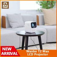 Orijinal YouPin Yeni Wanbo T2 Max LCD Projektör HD Giriş 1080 P Dikey Keystone Düzeltme Tüm Cam Lens Taşınabilir Projektör