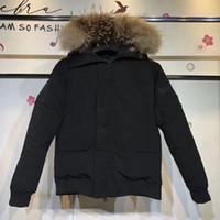 Mens вниз защита куртки зима холодной ветрозащитных моды теплого вниз пальто с мехом держать тепло зимой пальто тепла и комфортно загустители