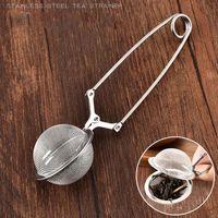 5pcs de acero inoxidable té de la bola cuchara de té bola del acoplamiento Infuser filtros con utensilios de cocina de la manija