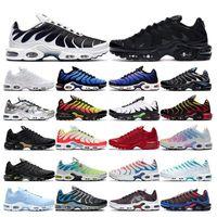 Vendas 2019 originais TN Plus Moda Correndo Tênis Novos Chegadas Respirável Malha Preto Branco TN Requiando Jogging Basquete TNS Sapatos Esportivos
