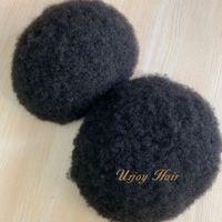 """아프리카 킨키 남자의 헤어 피스 인간의 머리카락 toupee 가발 슈퍼 얇은 피부 머리 교체베이스 크기 8 """"x10"""""""