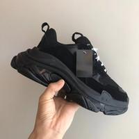 Lüks Tasarımcı Ayakkabı Inci Gri Üçlü S Sneakers Kadınlar Erkekler Için Lüks Büyükbaba Trainer Vintage Baba Ayakkabı Temizle Kabarcık Alt 17 Renkler