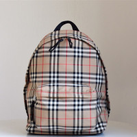 Nylon Plaid large backpack for men and women