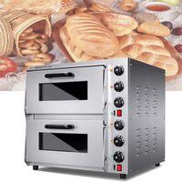 Four électrique à double couche avec contrôle indépendant de la température Double couche Pain et pizza Four de grande capacité Nouveau produit
