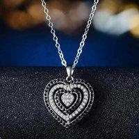Colar de Diamante Feminino Colar Romântico Hollow Amor Coração Pingente Colares Mulheres Casamento Colares Moda Jóias Will e Sandy Presente