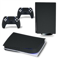 Black Sticker decorations for Sony PS5 Console and 2 Control...