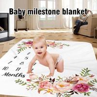 1 PC Baby Milestone Blanket Flannel Newborn Photo Photo Photo Schienale con grafico a crescita mensile per ragazza e ragazzo 11uc 2011111