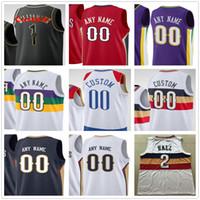 Personalizado Impresso Zion 1 Williamson Brandon 14 Ingram Lonzo 2 Bola Eric 6 Bledsoe New Orleans Pelicanos Homens Mulher Crianças Juvenil Basketball Jerseys