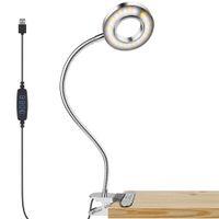 Topoch Klip Kitap Okuma Lambası USB Göz Bakımı Çocuk Danışma Işık 3 Renk Modları ile 10 Parlaklık Dimmer 360 ° Esnek Boyutu