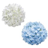54 Pétalas Artificial Silk Hydrangea Flor Cabeças para Centerpieces de Casamento Flor Wall Baby Chuveiro Decoração Festiva Decoração JK2101XB