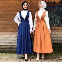 Abbigliamento etnico Vestidos Kaftan Abaya Turchia Abito musulmano Delle Donne Caftano Marocain Cinturino islamico Estate Ramadan Elbise Sukienki Eid Dresses1