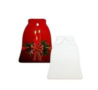 Sublimação Blanks Pingentes Cerâmicos Enfeites de Natal Criativo DIY Transferência de Calor Impressão de Cerâmica Ornamento Coração Rodada Pingentes
