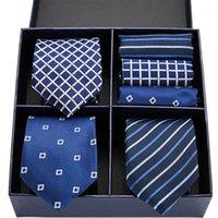 فانجيس الحرير الرجال التعادل مجموعة العلاقات مناديل مجموعة الرجال حفل زفاف الأعمال التعادل الأزياء ربطة العنق 7.5CM1