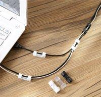 Weiße Datenlinie Lagerung Finisher Haushalt Reine Farbe Netzwerk Kabel Fixierclip Autohesion Wire Thread Management Gerät Heißer Verkauf 1 15ZL J2