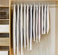 Clear Side-Open Brothes Stoccaggio sacchetto per la camicia della camicia della giacca della famiglia Cappotto della polvere della polvere Copertura di protezione antiscivolo 1pcs / lot JF006 BBYMRFB