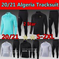 2020 2021 Algérie Soccer Jersey Maillot Tracksuit 20 21 2 estrelas Argélia Tracksuits Jaquetas Futebol Treinamento Ternos Homens + Kids Football Shirts