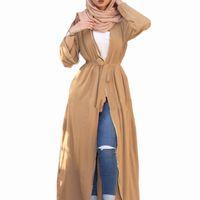 Apri Kaftan Abaya Dubai Kimono Islam Abito hijab musulmano Abitas per le donne Caftano Turco Abbigliamento Islamico Abbigliamento 3