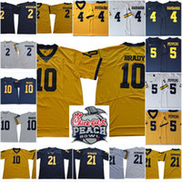 Mens NCAA Michigan Wolverines Tom Brady Jersey Charles Woods...