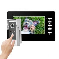 7 pollici Filo campanello visivo citofono video citofono campanello per porte di sicurezza domestica US / EU / UK / AU Plug 100V-240V (opzionale)