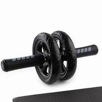 No hay ruido de rueda abdominal Ab Roller con la estera de gimnasio por Muscle Trainer Ejercicio Fitness Equipment