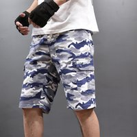 Männer Camouflage Shorts Fashion Stretch-Hosen Big Size Bermuda Male Camo Cargo Short Pants Hot beiläufige 2020 Sommermens Shorts