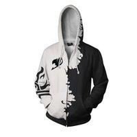 جديد الجنية الذيل 3D مطبوعة هوديس زيبر منتديات نمط مقنع البلوز الرجال النساء تأثيري البلوز أزياء هوديي ملابس خارجية معطف