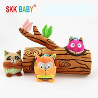 SKKBaby Ağacı Stump Serisi Çıngırak Bebek Bulmaca Gelişimi Oyuncak Bebek Peluş Çıngırak Seti