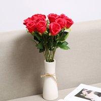 الزهور الاصطناعية الورود باقات الزفاف صور استوديو التصوير الفوتوغرافي مجموعة الديكور الفانيلا روز باقة عيد الحب diy الزخرفية روز