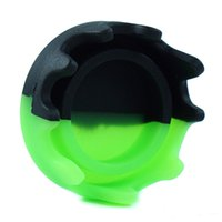 silicone dab container nonstick Empty Bottle smokingpipecontainers roundbottles waxoilrigs