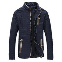 YWSRLM Мужская осень зима куртки людей способа куртки Стенд Воротник Мужчины пальто куртки ветрозащитный Мужские пальто Плюс Размер 7XL