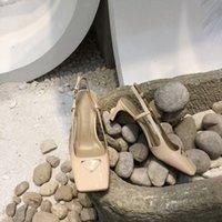 2021 Top Qualité Femme's Robe Chaussures Mode Tête Plat Designer Banquet De Mariage Haute Talon Haute Cuir Prestige Boîte de correspondance Taille 35-41