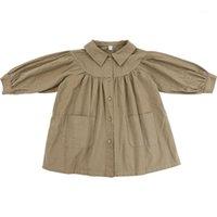 Casaco wlg toddler menina cair roupas crianças outono khaki longo estilo trincheira bebê moda todos os jogos por 1-6 anos1