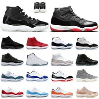 Nuevo 11S Jubileo 25º aniversario Jumpman Shoes 11 2021 Bred Concord 45 PROM Night Legend Legend Blue Mens Trainers Deportes Zapatillas deportivas