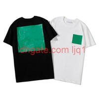 Футболки моды футболки летний мужчина женщина футболка одежда улица носить экипаж шеи с коротким рукавом тройник 2 цвет высочайшего качества