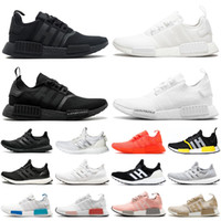 2020 new nmd r1 ultraboost ultra boost triple black white men women running shoes mens womens trainers sports sneakers runners size 36-45