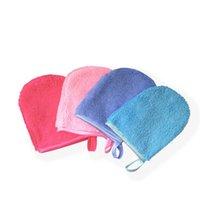 6 ألوان قابلة لإعادة الاستخدام ستوكات تطهير الوجه قفاز الوجه منشفة ماكياج قفازات مزيل تزيين وتجميل أداة WB2872