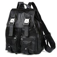 """Maheu Мягкие Кожаные Мужские Женщины рюкзак 13 """"Ноутбук рюкзаки для ноутбука Женской подлинной коровьей кожи дорогой сумка дамы Daypack черный"""