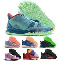 Kyries الرجال 7 أحذية كرة السلة الأزرق الخالق أيقونة الرياضة الخاصة FX BRD التعبيرات بروكلين شركة الطيران تينيز مدرب رياضة