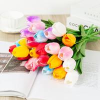 Латексные тюльпаны Искусственный PU Цветочный букет PU Real Touch Цветы для Украшения дома Свадебные Декоративные Цветы 8 Цветов WQ590