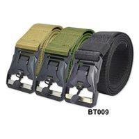 Vita supporto tattico cintura in nylon in nylon fibbia in nylon uomo a sgancio rapido Armata regolabile per la caccia all'aperto per la caccia allenamento da combattimento