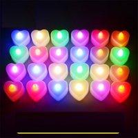 LED candela cuore candela elettronica luce festa di compleanno festa di San Valentino Halloween LED giocattoli regali illuminazione barra da sposa decorazione H11903