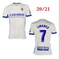 2021 Echte Zaragoza # 23 Shinji Kagawa Fussball Jersey 20/21 Home White Zapater Soccer Hemd Vazquez Pombo Saragossa Borja Football Uniform