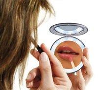 화장품 거울 메이크업 렌즈 콤팩트 핸드 USB 충전 LED 폴드 미러 터치 감지 스위치 작은 빛 인텔리전스 뜨거운 판매 32xy m2