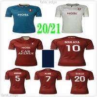 Maillot de pé 20 21 FC Metz Futebol Jersey 2020 2021 Boulaya Diallo Centonze Bronn Vagner Niane Fofana Vagner Casa Costume Camisa de Futebol