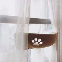 Finestra Cat Hammock Bed Bed Mount Pod Lounge Sdraiati Ventosa Lettino caldo per Pet Cat Rest House Molle e confortevole Ferret Cage1